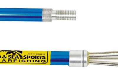 LAND & SEA ANODISED 3PC HAND SPEAR 2M - BLUE