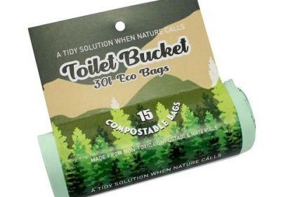 Toilet Bucket Eco Bag Roll (16 Bags per roll)