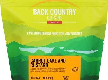 Back Country Carrot Cake and Custard